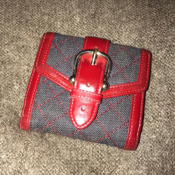 57a47458dd49 Burberry Other - Burberry Quilted Denim   Leather Folding Wallet